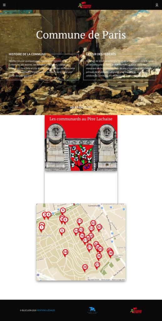 Screenshot La commune de Paris guide