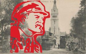 Lenin portrait and Paris